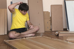 Assembling furniture at home Royalty Free Stock Photography