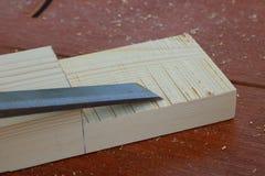 Assembling furniture, rabbet joint Stock Image