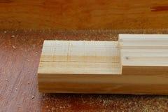 Assembling furniture, rabbet joint Stock Photography