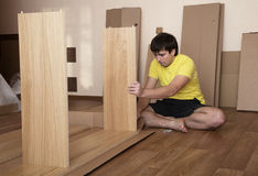 Assembling furniture Stock Photography