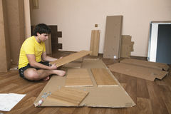 Assembling furniture Stock Photography