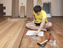 Assembling furniture Royalty Free Stock Photo