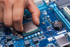 Assembling high performance personal computer Royalty Free Stock Photos
