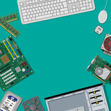 Assembling PC. Personal computer hardware. Stock Images