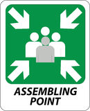 Assembling point sign Stock Image
