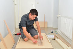 Assembling a table. Stock Photography