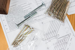 Assembling a table Royalty Free Stock Photo
