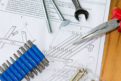 Assembling a table Stock Image