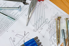 Assembling a table Stock Images