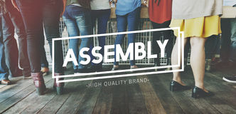 Assembly Brainstorming Conference Convention Concept Royalty Free Stock Image