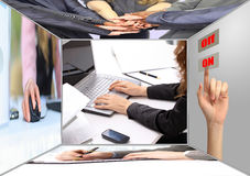 The Assembly of business people Stock Image