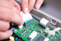 Assembly circuit board Stock Image