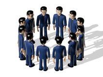 Assembly 3D Cartoon character Royalty Free Stock Photos