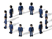 Assembly 3D Cartoon character Stock Photography