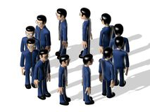Assembly 3D Cartoon character Stock Images