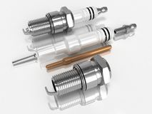 Assembly and disassembly spark plugs Stock Photography