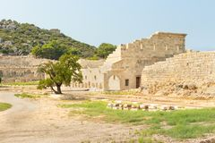 The assembly hall of the Lycian League, Vouleuterion in ancient city Patara. Stock Photography