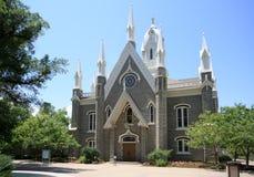 Assembly Hall, Temple Square Utah. Assemblly Hall of the Mormons in Salt Lake City, Utah stock photo