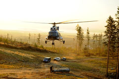 Assembly of helicopter Royalty Free Stock Image