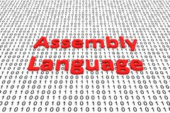 Assembly language Royalty Free Stock Photo