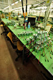 Assembly line. Of electronic components Stock Photography
