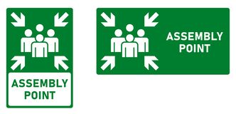 Assembly / meeting point icon. Vertical and horizontal version vector illustration