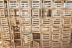 Assembly of old small cages with lockable doors Stock Photography
