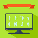 Assembly of people silhouettes stick figure. Figure stick icon vector  peaople Royalty Free Stock Image