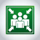 Assembly point. Design, vector illustration eps10 graphic Stock Photo