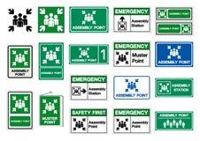 Assembly Point Set Symbol Sign, Vector Illustration, Isolated On White Background Label .EPS10 royalty free illustration