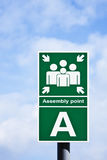 'Assembly point' sign Royalty Free Stock Photo