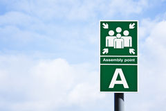 'Assembly point' sign Royalty Free Stock Photography