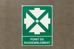 Assembly point sign Royalty Free Stock Photos