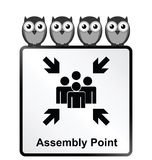 Assembly Point Sign Stock Photography