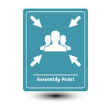 Assembly point sign Royalty Free Stock Image