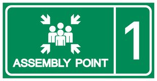 Assembly Point Symbol Sign, Vector Illustration, Isolated On White Background Label .EPS10 vector illustration