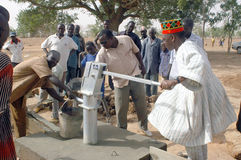 Assembly of a pump in Burkina Faso Royalty Free Stock Image