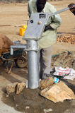 Assembly of a pump in Burkina Faso Royalty Free Stock Photos