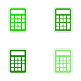 Assembly realistic sticker design on paper. Calculator Royalty Free Stock Photo