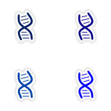 Assembly realistic sticker design on paper DNA Royalty Free Stock Photo