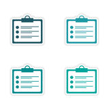 Assembly realistic sticker design on paper form Royalty Free Stock Images