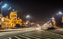 Assembly of the Republic of Serbia trafic light Royalty Free Stock Photography