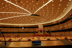 Assembly Room European Parlament Brussels Royalty Free Stock Photo