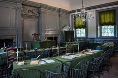 Free Assembly Room In Independence Hall Continental Congress. Stock Photos - 163887703