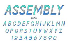 Assembly vector decorative italic font design, alphabet, typefac Stock Images
