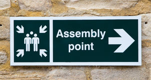 Assemly point sign Stock Photography
