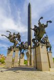 Assens纪念碑大特尔诺沃保加利亚 图库摄影