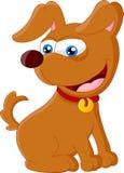 Assento adorável do cão dos desenhos animados Foto de Stock