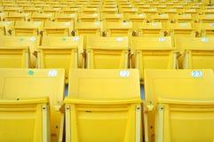 Assento amarelo do estádio Imagens de Stock Royalty Free