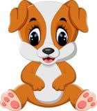 Assento bonito do cão ilustração stock